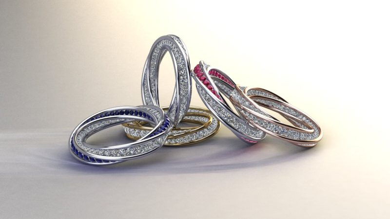 Diamond twist ring bunch